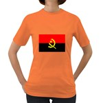 Angola Flag Women s Dark T-Shirt