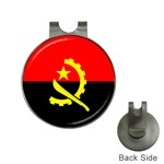 Angola Flag Golf Ball Marker Hat Clip