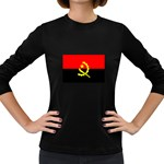 Angola Flag Women s Long Sleeve Dark T-Shirt