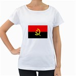 Angola Flag Maternity White T-Shirt
