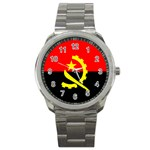 Angola Flag Sport Metal Watch