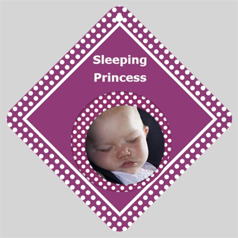 Princess Car Window Sign By Deborah      Mukul1o7rz08   Www Artscow Com Front