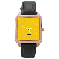 Imitation Rolex Rose Gold Leather Watch  by Contest1735883