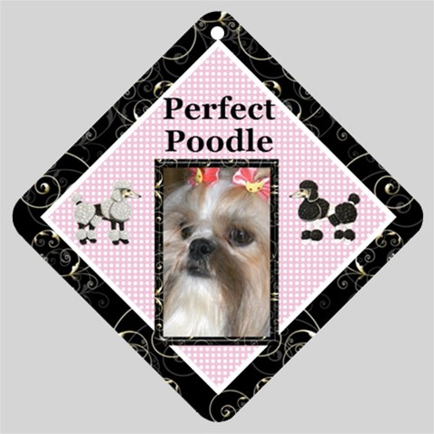 Perfect Poodle Car Window Sign By Deborah   Car Window Sign   0w4hdpq6x340   Www Artscow Com Front