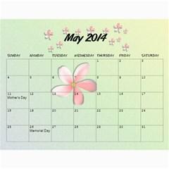 Grandkids Calendar By Raya   Wall Calendar 11  X 8 5  (12 Months)   Vznxxlqw0nvz   Www Artscow Com May 2014