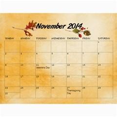 Grandkids Calendar By Raya   Wall Calendar 11  X 8 5  (12 Months)   Vznxxlqw0nvz   Www Artscow Com Nov 2014