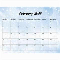 Grandkids Calendar By Raya   Wall Calendar 11  X 8 5  (12 Months)   Vznxxlqw0nvz   Www Artscow Com Feb 2014