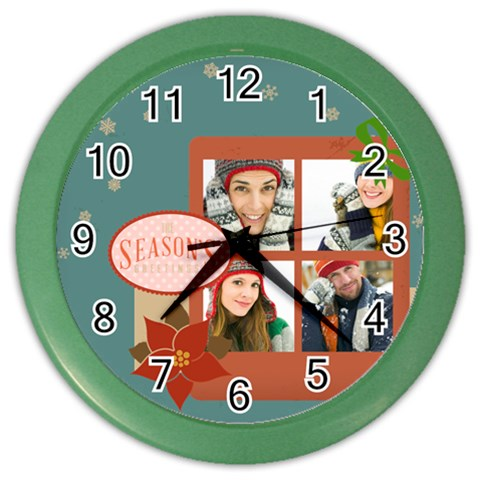 Christmas By Merry Christmas   Color Wall Clock   1w0in0web6u4   Www Artscow Com Front