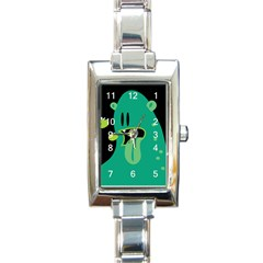 Monster Rectangular Italian Charm Watch by Contest1771913