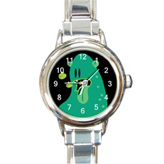 Monster Round Italian Charm Watch by Contest1771913