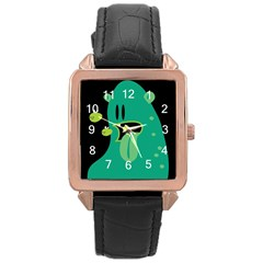 Monster Rose Gold Leather Watch  by Contest1771913