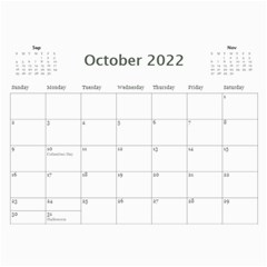 2019 Calender Beloved By Shelly   Wall Calendar 11  X 8 5  (12 Months)   G7qpi7hlzj5w   Www Artscow Com Oct 2019