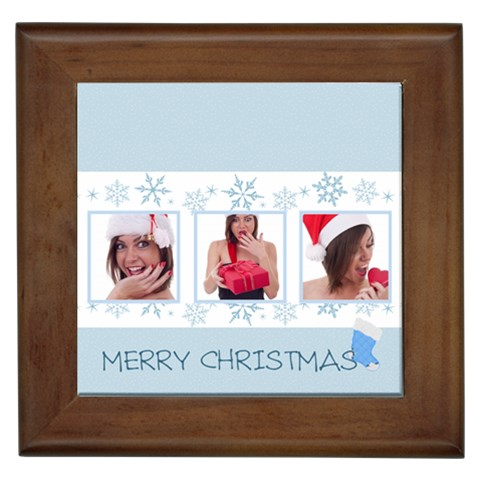 Merry Christmas By M Jan   Framed Tile   Vr1q2o559xyl   Www Artscow Com Front