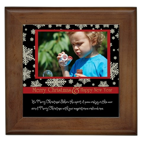 Merry Christmas By M Jan   Framed Tile   Gvjjk8y0w52h   Www Artscow Com Front