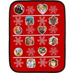 merry christmas - Double Sided Fleece Blanket (Mini)