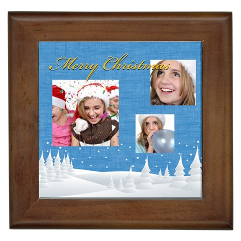 Merry Christmas By M Jan   Framed Tile   F7kp5lsxgaox   Www Artscow Com Front