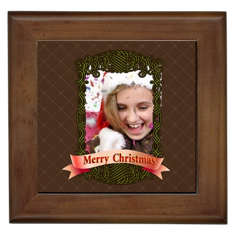Merry Christmas By M Jan   Framed Tile   Pxvpieuh6dzn   Www Artscow Com Front