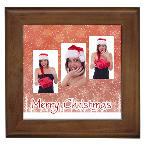 Merry Christmas By M Jan   Framed Tile   Gwksawbrabxo   Www Artscow Com Front