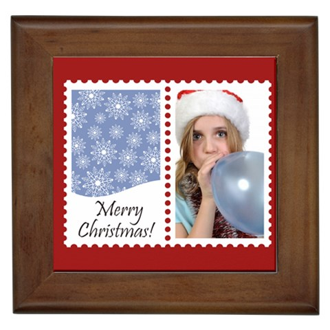 Merry Christmas By M Jan   Framed Tile   B3qt4p55yawn   Www Artscow Com Front