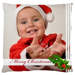 Merry Christmas By Man   Large Cushion Case (two Sides)   Eln9fm0u62ox   Www Artscow Com Front