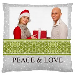 Merry Christmas By Man   Large Cushion Case (two Sides)   4qp827pmruhn   Www Artscow Com Front