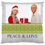 merry christmas - Large Cushion Case (Two Sides)