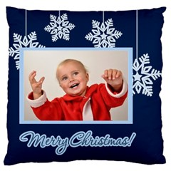 Merry Christmas By Man   Large Cushion Case (two Sides)   Lunc0st0frs9   Www Artscow Com Back