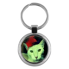 Charlie Red Feather Key Chain (round)