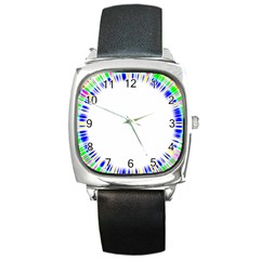 Color Chill Square Leather Watch