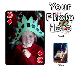 Kelly Card Gift By Michelle Raymond   Playing Cards 54 Designs   Mvi3e6fhj2lb   Www Artscow Com Front - Diamond10