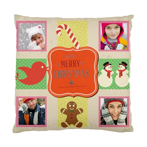 Merry Christamas By Merry Christmas   Standard Cushion Case (one Side)   Tctbwbl01yrb   Www Artscow Com Front