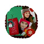 merry christmas - Standard 15  Premium Round Cushion