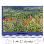 Italy  - Wall Calendar 11  x 8.5  (12-Months)