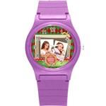 merrry christmas - Round Plastic Sport Watch (S)