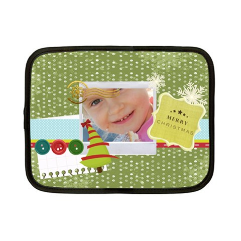 Merry Christmas By Jo Jo   Netbook Case (small)   Jk5ahjs7h4fk   Www Artscow Com Front