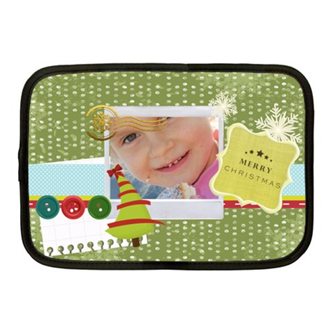 Merry Christmas By Jo Jo   Netbook Case (medium)   89df2ln34dbi   Www Artscow Com Front