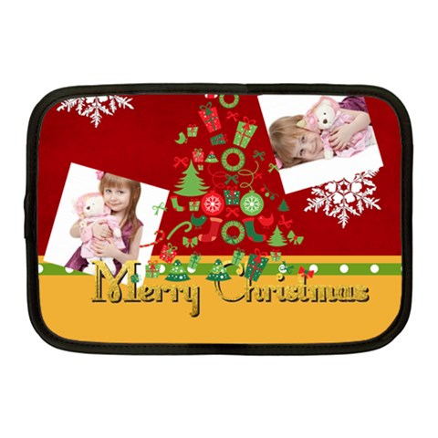 Merry Christmas By Jo Jo   Netbook Case (medium)   D7yrujpj5fam   Www Artscow Com Front