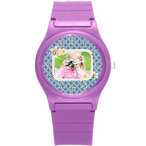 Merry Christmas By Joely   Round Plastic Sport Watch (s)   95441l85dvti   Www Artscow Com Front