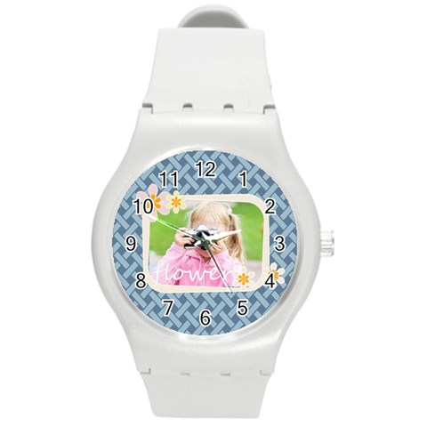 Merry Christmas By Joely   Round Plastic Sport Watch (m)   3ufr4d8qq8vj   Www Artscow Com Front