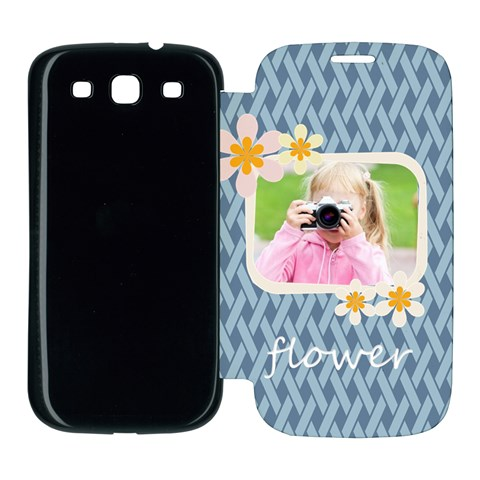 Flower Kids By Joely   Samsung Galaxy S3 Flip Cover Case   Xbm94c4hcq9j   Www Artscow Com Front