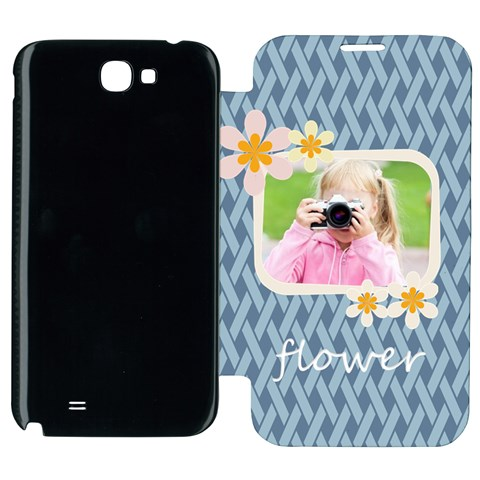 Flower Kids By Joely   Samsung Galaxy Note 2 Flip Cover Case   4mnf0ovqnl8t   Www Artscow Com Front