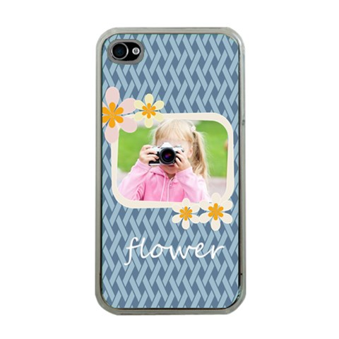 Flower Kids By Joely   Apple Iphone 4 Case (clear)   Lsbk6vw1pan0   Www Artscow Com Front