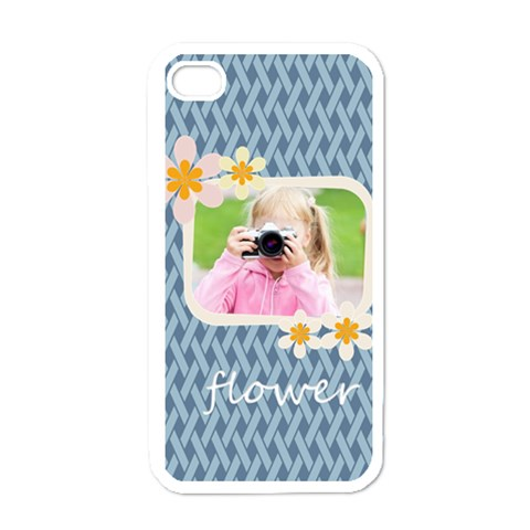 Flower Kids By Joely   Apple Iphone 4 Case (white)   470k1l15x2uk   Www Artscow Com Front