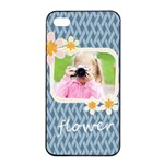 flower kids - Apple iPhone 4/4s Seamless Case (Black)