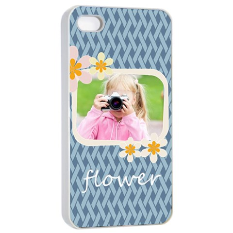 Flower Kids By Joely   Apple Iphone 4/4s Seamless Case (white)   B9hkkpgrpjke   Www Artscow Com Front