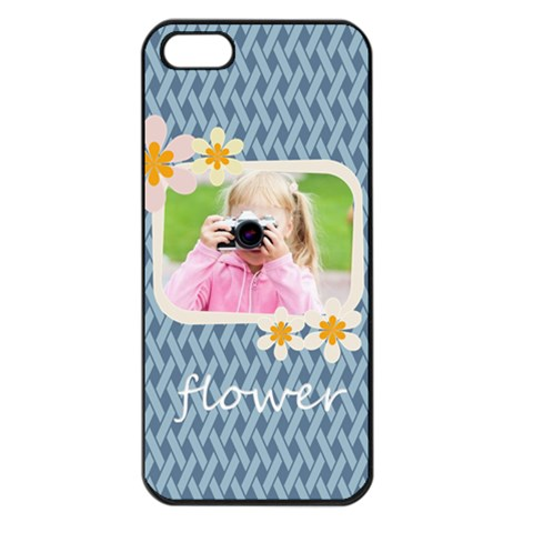 Flower Kids By Joely   Apple Iphone 5 Seamless Case (black)   7bbr43ryqev5   Www Artscow Com Front