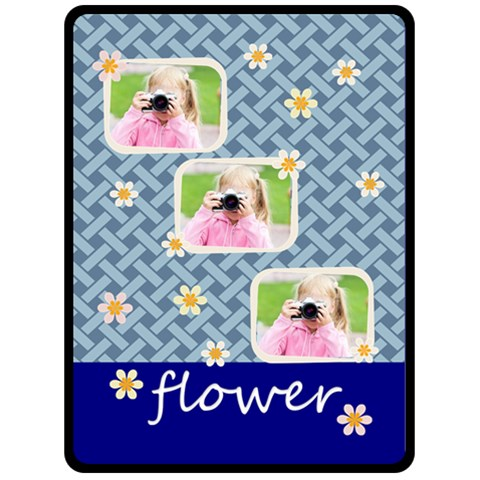Flower By Joely   Fleece Blanket (large)   80ogmildlpur   Www Artscow Com 80 x60 Blanket Front