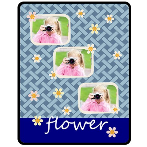 Flower By Joely   Fleece Blanket (medium)   Wdrpj85ewo0l   Www Artscow Com 60 x50 Blanket Front
