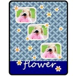 flower - Fleece Blanket (Medium)