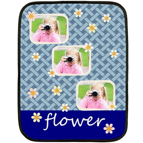 Flower By Joely   Fleece Blanket (mini)   0zke6wt2z6iz   Www Artscow Com 35 x27 Blanket